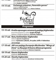 big band siauliai 2012 plakatas